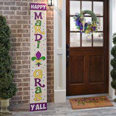 Happy Mardi Gras Y'all Wood Porch Plaque | Kirklands