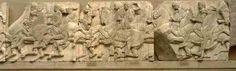 ***Cabalgata del friso norte del Partenón (h.442-438 a.C.),Londres, Museo Británico.