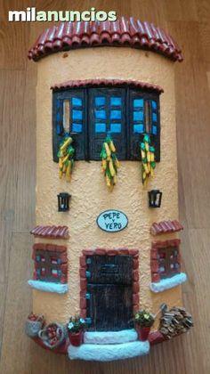 MIL ANUNCIOS.COM - Tejas decoradas. Casa y Jardín tejas decoradas Sculpture Art, Clay, Frame, Projects, Handmade, Home Decor, Stone Cottages, Gardens, Bottles