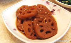 How to make Braised Lotus Root, Yeongeun Jorim | Crazy Korean Cooking.  Side dish
