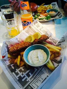 Fish and chips. Fish And Chips, Pie, Meat, Chicken, Food, Torte, Cake, Fruit Cakes, Essen