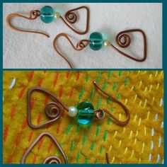 The first time I tried pairing green translucent bead with copper #wire and it looked great. What do you think? What are the colours you would pair with #copper?
