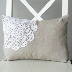 doily pillow | Flickr - Photo Sharing!