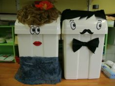Monsieur et Madame Poubelle : animation sur le tri sélectif des déchets dans le cadre des Juniors du Développement Durable.