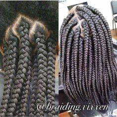 Large box braids More