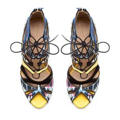 MULTICOLORED LACE-UP SANDAL - Shoes - Woman - ZARA Greece