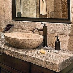 #bathroom #sink #stone #limestone #provance #frenchlimestine #french #provence #stonefloor #stonesink #masterpiece #masterbath #masterbathroom #thick #thickslab #vanity #newportbeach #newport #custom #customhome #customhomes