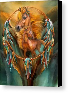 Stallion Dreams canvas print featuring the fine art of Carol Cavalaris.