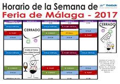 Horario de Semana de #FeriaDeMálaga2017 Abriremos Lunes14, Miércoles16, Jueves17 y Viernes 18, abriremos de 8:00 a 21:00hh. El Martes15 y Sábado 19, el gimnasio permanecerá cerrado por ser festivo. #BodyPump #BodyCombat #Cycle #FitBall #Virtual #ReebokMálaga #Reebok #Málaga #FitnessLovers #Fitness