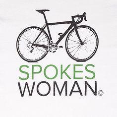 Spokes Woman White Women's Cycling T-Shirt | VELECO - Ethical Cyclewear