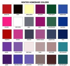 Winter colors!! Gray, black, the greens, blues, and reds are especially your thing.