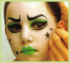 Maquillaje bruja ni a sama n pinterest brujo - Como pintar la cara de nina de bruja ...
