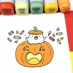 Hope you all had (or are still having) a great Halloween! I received my first ever Halloween candy today ? Kawaii Halloween, Cute Halloween Drawings, Halloween Doodle, Halloween Candy, Kawaii Doodles, Cute Kawaii Drawings, Cute Doodles, Doodle Drawings, Doodle Art