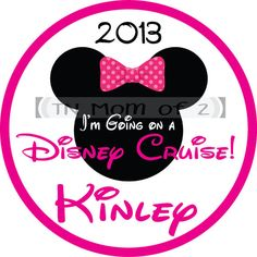 disney inspired iron on transfer, minnie, cruise - use for shirt, apron, bag, birthday party decorations and invitations, pillow and more on Etsy, $4.00