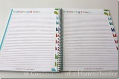 2014 Monthly Blog Planner - FREE - Confessions of a Homeschooler