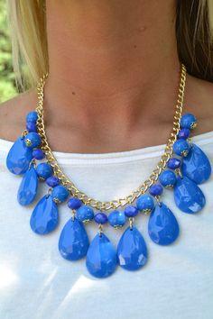 Piace Boutique - Eden Statement Necklace (Blue), $19.00 (http://www.piaceboutique.com/eden-statement-necklace-blue/)