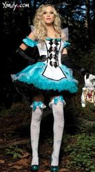 Blue Snow White Lolita Pricess Costumes For Ladies 2013 Women Halloween Cosplay Carnival Dress With Accessory Plus Size M L XL(China (Mainland))