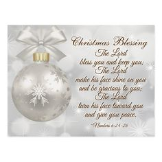 Shop Christmas Blessing Bible Verse Numbers 6 Postcard created by CChristianDesigns. Christmas Card Verses, Christmas Scripture, Merry Christmas Message, Christmas Prayer, Merry Christmas Quotes, Christmas Blessings, Christmas Messages, Silver Christmas, Christmas Images