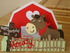 Front of birthday card made using Cricut Create a Critter