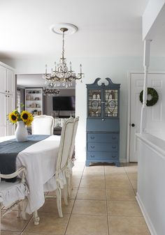 Blue painted secretary (Homestead Blue by Fusion Mineral Paint, Homestead House)