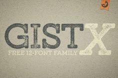 gistX free font family