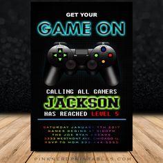Printable Video Game Birthday Invitation Template DIY Video - Video game birthday invitation template