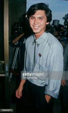 Actor Lou Diamond Phillips attending the premiere of 'Young Guns' on August 10, 1988 at the UA Coronet Theater in Westwood, California.