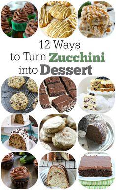 12 ways to turn zucchini into dessert best dessert recipes, easy desserts, pie recipes Healthy Treats, Healthy Desserts, Delicious Desserts, Yummy Food, Easy Desserts, Healthy Recipes, Pumpkin Recipes, Cookie Recipes, Dessert Recipes