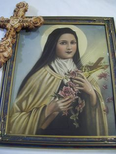 Your place to buy and sell all things handmade St Therese Of Lisieux, Rustic Cross, Santa Teresa, Previous Life, Angel Art, Great Love, Crucifix, Rose Petals, Photo Props