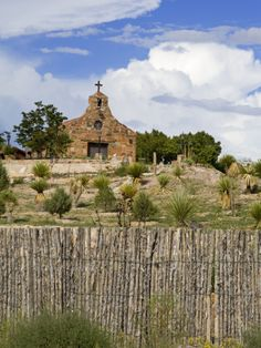 Church on the Pojoaque Pueblo, New Mexico by Richard Cummins
