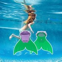 Swimming Paddle Shoes Mermaid Tail
