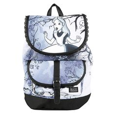 85e649d7a761 Disney Alice In Wonderland Slouch Backpack Hot Topic MXN) ❤ liked on…