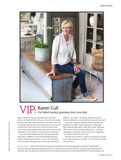 BBC Homes and Antiques October issue,interview with Karen Cull