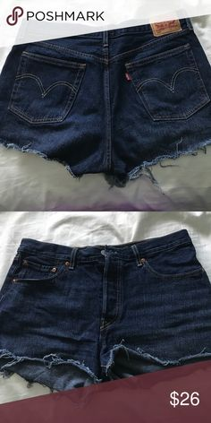 Levi's 501 denim shorts Dark Levi's 501 shorts, bought at Levi's retailer, only worn a few times, amazing condition Levi's Shorts Jean Shorts