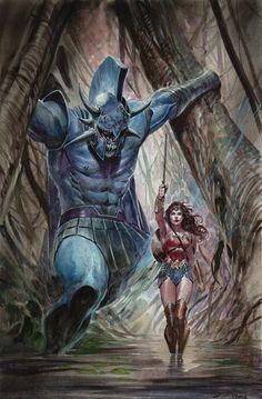 Wonder Woman & Ares by Ardian Syaf