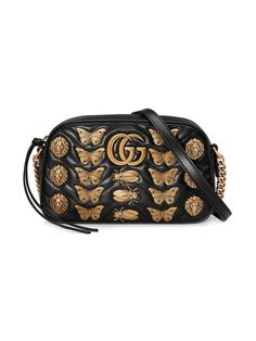 a85e073ed5c638 Gucci GG Marmont Animal Studs Shoulder Bag - Farfetch