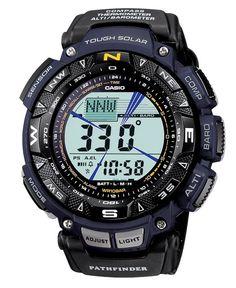 Casio Men's Digital Pathfinder Black Cloth Strap Watch PAG240B-2