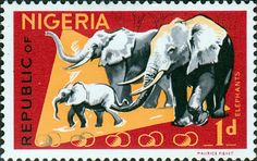 Nigeria 1965 SG 173 Animals African Elephants Fine Mint SG 173 Scott 185 Condition Fine LMM Only one post charge applied on multipul purchases