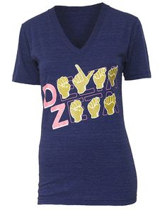 Delta Zeta shirt supporting our national philanthropy, speech and hearing. How freaking cool is this?!