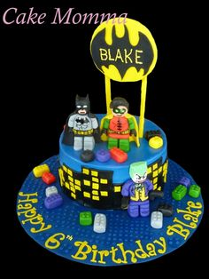 Batman lego cake! For more of my work please visit http://christinaammendolia.wix.com/cakemomma or join my face book page! Cake Momma!