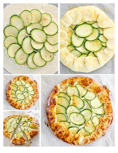 Zucchini-and- Ricotta- Gallette -  add an egg and spring onion/chives to the cheese- mix