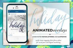 Animated Overlay - Holiday (Script) by Baron Art Co. on Creative Market
