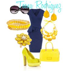 Navy and Yellow- By Teena Rodriguez