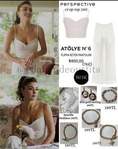 Turkish Fashion, Beauty Hacks, Beauty Tips, Gold Earrings, One Shoulder Wedding Dress, Tv Shows, Fashion Outfits, Crop Tops, Wedding Dresses