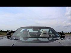 Amazing golf shot : Golf Ball caught in a  Mercedes-Benz SLS AMG Roadster