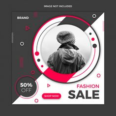 Sale social media post template design P. Social Media Poster, Social Media Branding, Social Media Banner, Social Media Design, Page Layout Design, Web Design, Banner Design Inspiration, Instagram Banner, Business Card Psd
