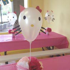 Hello Kitty balloons I made for Julia's birthday party.