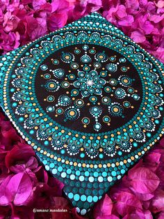 Items similar to Green Peaceful Mandala Canvas on Etsy Mandala Painted Rocks, Mandala Rocks, Dot Art Painting, Mandala Painting, Mandala Canvas, Mandala Art, Mandala Pattern, Mandala Design, Circle Canvas
