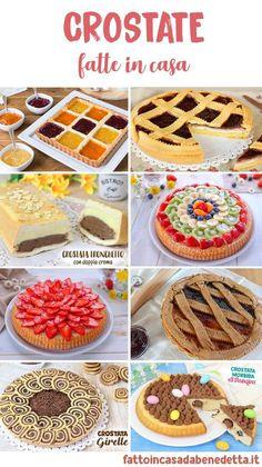 Tante idee per preparare delle crostate fatte in casa colorate e molto facili da fare! Le crostate sono un dolce perfetto in tutte le occasioni. Torte Cake, Cake & Co, Italian Desserts, Mini Desserts, Real Food Recipes, Dessert Recipes, Pan Sin Gluten, Pies Art, Diabetic Desserts