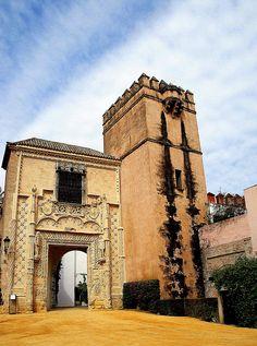 Este camino de regreso por el interior del muro del Callejón del Agua, nos lleva ante la espectacular Puerta del Palacio de los duques de Arcos, más conocida como Puerta de Marchena. Fue construida por Juan Guas en 1.492 formando parte del Palacio de los Duques de Arcos, en Marchena (Sevilla) pasando a ser propiedad, a partir del siglo XVII, del duque de Osuna.